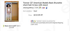 Tonner American Models Raven doll sold for $139.97