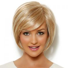 Exquisite Side Bang Golden Blonde Curly Straight Synthetic Wig For Women #CLICK! #clothing, #shoes, #jewelry, #women, #men, #hats
