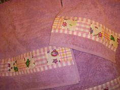 Asciugamani donna inserto patchwork