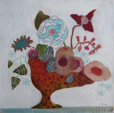 In Barcelona - Sandrine Pelissier, Watercolor and mixed media paintings http://www.watercolorpainting.ca/flowers.html