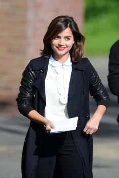 Jenna Coleman films scenes for the new series of Doctor Who in Cardiff