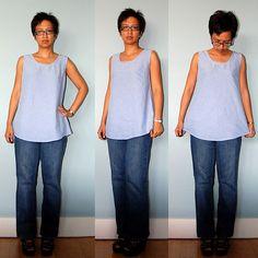 re-purposing mens dress shirts for womens fashion