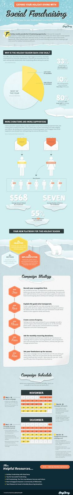 StayClassy holiday fundraising infographic