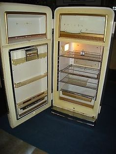 Vintage-Philco-V-Handle-Refrigerator-Complete-Original-Working-Unit