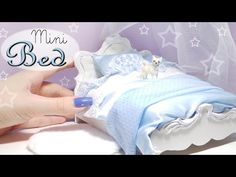 Cute Miniature Bed Tutorial // Dolls/Dollhouse - YouTube