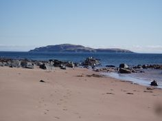 southend beach, mull of kintyre (with sanda island in the distance)