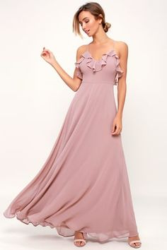 fb98130d6a7e Lulus | Love Spell Dusty Lavender Lace-Back Maxi Dress | Size X-Small |  Purple | 100% Polyester
