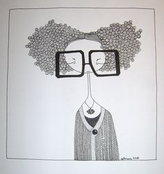Hipster Drawings, Easy Drawings, Couple Drawings, Pencil Drawings, Crows Drawing, Doodle People, Abstract Face Art, Art Beat, Dragonfly Art
