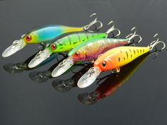 3d eyes lure 10cm Fishing lures Minnow 10CM 9.6G 6# hooks artificial body fishing lure 4 colors 20pcs