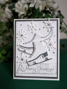 Get Your Skates On, the holidays are just around the corner! What a perfect way to say Merry Christmas with this card by Christina Griffiths.