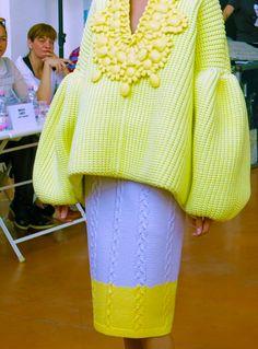 Renzo Rosso and Artistic Dir. Nicola Formichetti Reveal Diesel Reboot and Knitwear Fashion, Knit Fashion, Runway Fashion, Spring Fashion, Winter Fashion, Womens Fashion, Xiao Li, Parisienne Chic, Knit Art