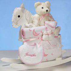 Rocking Horse Baby Gift - Girl [DB-BGC-RHBGG] - $179.99