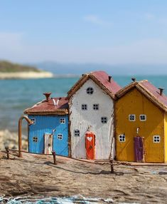 Image may contain: sky, ocean, outdoor and nature Wood Block Crafts, Barn Wood Crafts, Driftwood Crafts, Wooden Crafts, Driftwood Signs, Wood Blocks, Pottery Houses, Ceramic Houses, Wood Houses