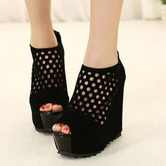 Buy 'Mancienne – Perforated Wedge Sandals' with Free International Shipping at YesStyle.com. Browse and shop for thousands of Asian fashion items from China and more!