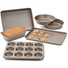 Cook N Home NC-00377 Bakeware 6 Piece Heavy Gauge Non-Stick Bakeware