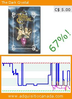 The Dark Crystal (DVD). Drop 67%! Current price C$ 5.00, the previous price was C$ 14.99. By Jim Henson, Frank Oz, Jim Henson, Kathryn Mullen, Frank Oz, Dave Goelz, Steve Whitmire. http://www.adquisitiocanada.com/sony-pictures-home/dark-crystal