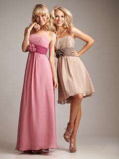 2014 sleeveless with empire waist A-line bridesmaid dress