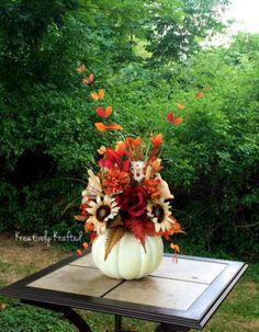 Fall-Neutral-Colors-White-Pumpkin-Centerpiece-Autumn-Wedding-Thanksgiving