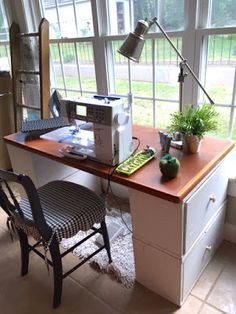 Make Your Own Desk or Sewing Table With Things You Might Already Have...