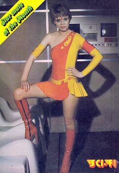fantascientificamentevintage: Zova (Stacy Dorning)Space:1999 - Spazio 1999 (source:http://projectswordtoys.blogspot.it/2013_08_01_archive.html)