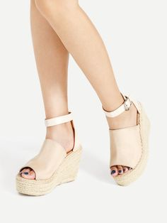 Shop Open Toe Ankle Strap Woven Wedges online. SheIn offers Open Toe Ankle Strap Woven Wedges & more to fit your fashionable needs.