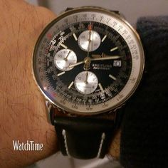 A #WATCHTIME fan is checking in with his just serviced Breitling Navitimer. Looking good! @breitlingnews #breitling #breitlingnavitimer #breitlingwatch...