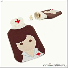 "Bolsa de agua caliente ""Enfermera"" - WWW.DECORATECA.COM"