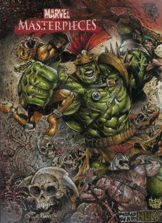 World War Hulk trading card commission. Actual size 2.5 x 3.5 inches.
