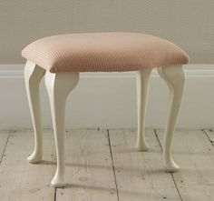 Queen anne dressing table stool - The Dormy House