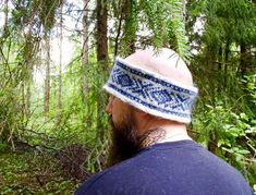 Handmade knitted fair isle ear warmer / Pure icelandic wool with norwegian pattern /Grey and blue autumn and winter oudoor unisex headband Blue Wool, Ear Warmers, Hand Knitting, Autumn, Pure Products, Unisex, Beautiful, Grey, Pattern
