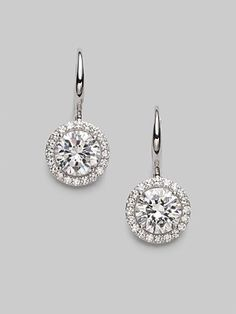 Adriana Orsini Sterling Silver Round Drop Earrings. Exclusively at Saks.