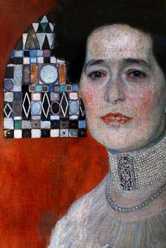 Gustav Klimt: Portrait of Fritza Riedler (face detail) #art #painting #klimt