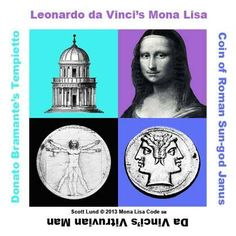 """Leonardo da Vinci's Mona Lisa and Donato Bramante's Tempietto were sister projects created at the same time to express the religious doctrine of the """"Two Faces of the Soul."""" #MonaLisaCode #ScottLund #LeonardoDaVinci #TheMonaLisa #MonaLisa #History #ArtHistory #Stars #Astronomy #Entertainment #Bramante #Tempietto #Rome Scott Lund © 2010 
