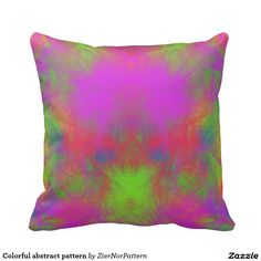 Colorful abstract pattern throw pillows