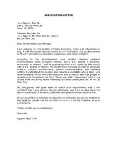 Attractive Application Letter It