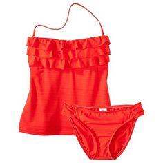 Target : Mossimo Women's 2-Piece Tankini Swimsuit -Grenadine : Image Zoom