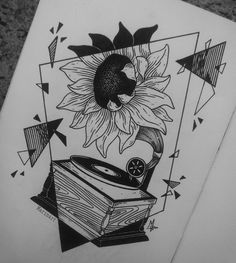 """bitterssweet-symphony: """" I saw that gramophone idea somewhere and I decided to use it in my drawing so… here it is, hope you like it! Cool Art Drawings, Pencil Art Drawings, Doodle Drawings, Art Drawings Sketches, Doodle Art, Pen Art, Art Sketchbook, Painting & Drawing, Design Art"""