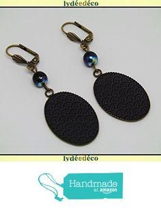 Boucles d'oreilles rétro résine Japon gris noir laiton bronze perles verre pendentifs 18x25mm attaches coquillage à partir des Lydee Deco https://www.amazon.fr/dp/B073R2C6P2/ref=hnd_sw_r_pi_dp_GOlyzb08X8VA7 #handmadeatamazon