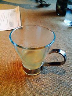 CIA Greystone lemon mint tisane palate cleanser before dessert