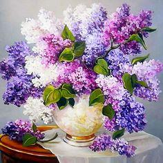 5D DIY Púrpura Flor de La Lavanda Pintura Diamante cuadrado Niños De Punto De Cruz Bordado de Diamantes Diamante Mosaico Decoración Del Hogar zx(China (Mainland)) Hortensia