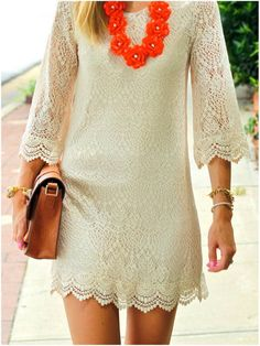 White Lace Dress. Dreamy. Chic. Gorgeous.