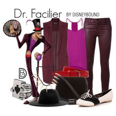 Dr. Facilier by leslieakay on Polyvore featuring Rebecca Minkoff, Miss Selfridge, Brockenbow, Skinnydip, Études, Lacoste, disney and disneybound