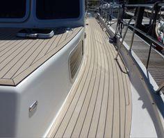 More from the side decks... #SyntheticTeak #Boat #MotorYacht #Yacht #Teak #Corvette320