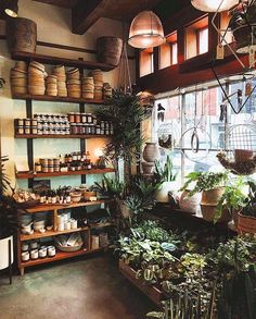 Weekends are for plant shopping! 🌿 Thanks for sharing the lovely image, Flower Shop Design, Shop Front Design, Store Design, Garden Cafe, Garden Shop, Garden Center Displays, Hobby Foto, Elderly Home, D House