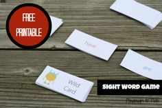 I'm Out! Free printable game teaches kids how to read sight words quickly.