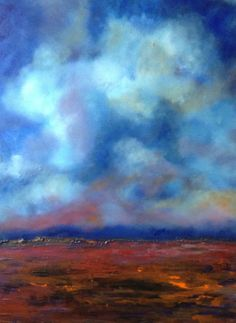 Original abstract landscape with blues by BryanAnthonyStudio, $499.00
