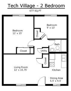 Tiny House Single Floor Plans 2 Bedrooms | Apartment Floor Plans |  Tennessee Tech University · Converted GarageApartment ...