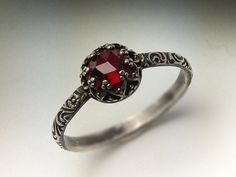 Other Wedding Jewelry 2.00 Ct Square Princess Cut January Birthstone Garnet Sterling Silver Solitaire Numerous In Variety Engagement Rings
