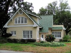 pictures of houses with green roof | ... house would this be too crazy here is a pink house green roof in