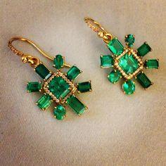 Mine! Emerald earrings by Irene Neuwirth